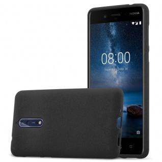 Cadorabo Hülle für Nokia 8 2017 in FROST SCHWARZ - Handyhülle aus flexiblem TPU Silikon - Silikonhülle Schutzhülle Ultra Slim Soft Back Cover Case Bumper