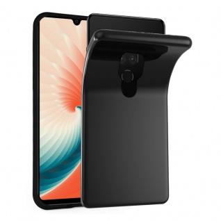 Cadorabo Hülle für Huawei MATE 20 in SCHWARZ - Handyhülle aus flexiblem TPU Silikon - Silikonhülle Schutzhülle Ultra Slim Soft Back Cover Case Bumper