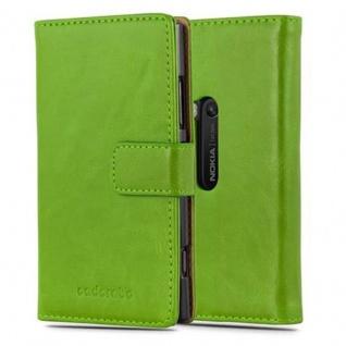 Cadorabo Hülle für Nokia Lumia 920 in GRAS GRÜN - Handyhülle mit Magnetverschluss, Standfunktion und Kartenfach - Case Cover Schutzhülle Etui Tasche Book Klapp Style