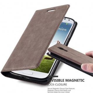 Cadorabo Hülle für Samsung Galaxy S4 in KAFFEE BRAUN Handyhülle mit Magnetverschluss, Standfunktion und Kartenfach Case Cover Schutzhülle Etui Tasche Book Klapp Style