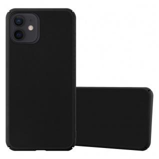 """Cadorabo Hülle für Apple iPhone 12 Mini (5, 4"""" Zoll) in METALL SCHWARZ Hardcase Handyhülle aus Plastik gegen Kratzer und Stöße Schutzhülle Bumper Ultra Slim Back Case Hard Cover"""