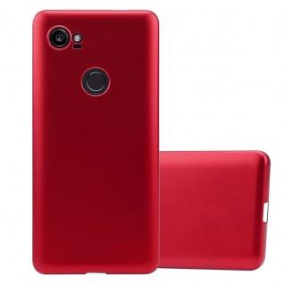 Cadorabo Hülle für Google Pixel 2 XL in METALLIC ROT - Handyhülle aus flexiblem TPU Silikon - Silikonhülle Schutzhülle Ultra Slim Soft Back Cover Case Bumper