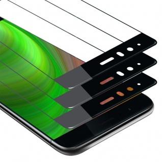Cadorabo 3x Vollbild Panzer Folie für Huawei P9 Schutzfolie in TRANSPARENT mit SCHWARZ 3er Pack Gehärtetes (Tempered) Display-Schutzglas in 9H Härte mit 3D Touch
