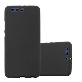 Cadorabo Hülle für Huawei P10 PLUS - Hülle in FROST SCHWARZ ? Handyhülle aus TPU Silikon im matten Frosted Design - Ultra Slim Soft Backcover Case Bumper