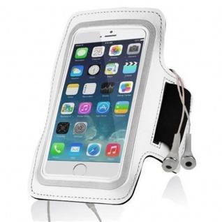 """"""" Cadorabo ? Neopren Smartphone Sport Armband Fitnessstudio Jogging Armband Oberarmtasche kompatibel mit 4, 5 ? 5, 0"""" Zoll Handys wie z, B, Apple iPhone 6 / 6S, 8 / 7 / 7S, Samsung Galaxy A3, HTC ONE A9 usw, mit Schlüsselfach und Kopfhöreranschl - Vorschau 5"""