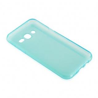 Cadorabo Hülle für Samsung Galaxy J3 2015 in TRANSPARENT BLAU - Handyhülle aus flexiblem TPU Silikon - Silikonhülle Schutzhülle Ultra Slim Soft Back Cover Case Bumper - Vorschau 3