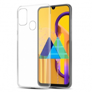 Cadorabo Hülle für Samsung Galaxy M30s in VOLL TRANSPARENT - Handyhülle aus flexiblem TPU Silikon - Silikonhülle Schutzhülle Ultra Slim Soft Back Cover Case Bumper