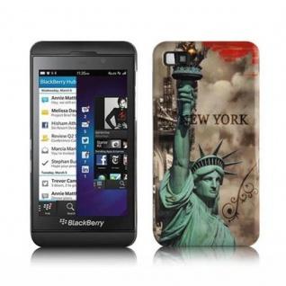 Cadorabo - Hard Cover für Blackberry Z10 - Case Cover Schutzhülle Bumper im Design: NEW YORK - FREIHEITSSTATUE