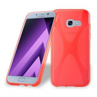 Cadorabo Hülle für Samsung Galaxy A5 2017 in INFERNO ROT ? Handyhülle aus flexiblem TPU Silikon ? Silikonhülle Schutzhülle Ultra Slim Soft Back Cover Case Bumper
