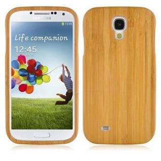 Cadorabo Hülle für Samsung Galaxy S4 - Hülle aus BAMBUS ? Handyhülle aus 100% Echtholz - Case Cover Schutzhülle Hard Case