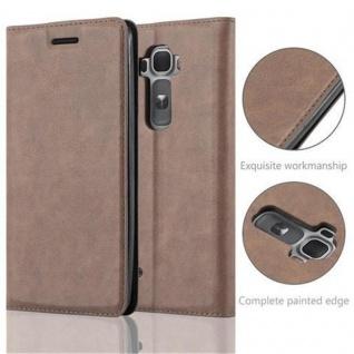 Cadorabo Hülle für LG FLEX 2 in KAFFEE BRAUN - Handyhülle mit Magnetverschluss, Standfunktion und Kartenfach - Case Cover Schutzhülle Etui Tasche Book Klapp Style - Vorschau 2