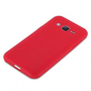 Cadorabo Hülle für Samsung Galaxy J2 2015 in CANDY ROT - Handyhülle aus flexiblem TPU Silikon - Silikonhülle Schutzhülle Ultra Slim Soft Back Cover Case Bumper - Vorschau 4