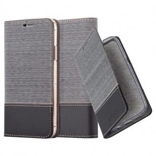 Cadorabo Hülle für Apple iPhone XS MAX in GRAU SCHWARZ - Handyhülle mit Magnetverschluss, Standfunktion und Kartenfach - Case Cover Schutzhülle Etui Tasche Book Klapp Style