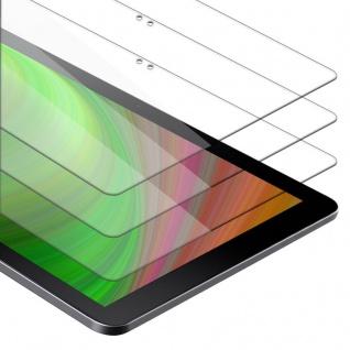 """Cadorabo 3x Panzer Folie für Samsung Galaxy Book (10.6"""" Zoll) (SM-W627 / W620) Schutzfolie in KRISTALL KLAR 3er Pack Gehärtetes (Tempered) Display-Schutzglas in 9H Härte mit 3D Touch Kompatibilität"""