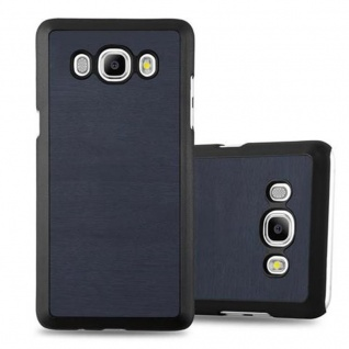 Cadorabo Hülle für Samsung Galaxy J5 2016 in WOODY BLAU - Hardcase Handyhülle aus Plastik gegen Kratzer und Stöße - Schutzhülle Bumper Ultra Slim Back Case Hard Cover