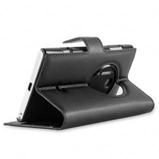 Cadorabo Hülle für Nokia Lumia 1020 in PHANTOM SCHWARZ - Handyhülle mit Magnetverschluss, Standfunktion und Kartenfach - Case Cover Schutzhülle Etui Tasche Book Klapp Style - Vorschau 4