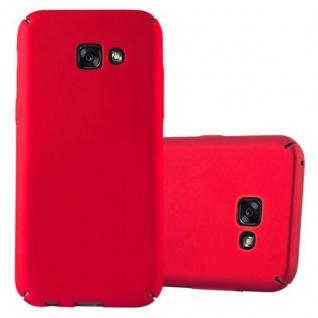 Cadorabo Hülle für Samsung Galaxy A3 2017 in METALL ROT - Hardcase Handyhülle aus Plastik gegen Kratzer und Stöße - Schutzhülle Bumper Ultra Slim Back Case Hard Cover