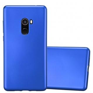 Cadorabo Hülle für Xiaomi Mi Mix 2 in METALLIC BLAU - Handyhülle aus flexiblem TPU Silikon - Silikonhülle Schutzhülle Ultra Slim Soft Back Cover Case Bumper