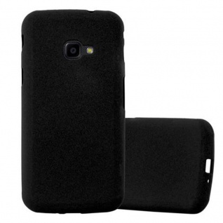 Cadorabo Hülle für Samsung Galaxy XCover 4 in FROST SCHWARZ - Handyhülle aus flexiblem TPU Silikon - Silikonhülle Schutzhülle Ultra Slim Soft Back Cover Case Bumper
