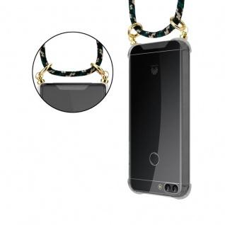 Cadorabo Handy Kette für Huawei P SMART 2018 / Enjoy 7S in CAMOUFLAGE ? Silikon Necklace Umhänge Hülle mit Gold Ringen, Kordel Band Schnur und abnehmbarem Etui ? Schutzhülle - Vorschau 2