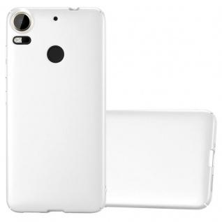 Cadorabo Hülle für HTC Desire 10 PRO in METALL SILBER Hardcase Handyhülle aus Plastik gegen Kratzer und Stöße Schutzhülle Bumper Ultra Slim Back Case Hard Cover