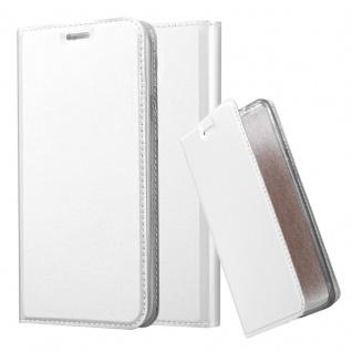 Cadorabo Hülle für Samsung Galaxy S4 Active in CLASSY SILBER - Handyhülle mit Magnetverschluss, Standfunktion und Kartenfach - Case Cover Schutzhülle Etui Tasche Book Klapp Style - Vorschau 1