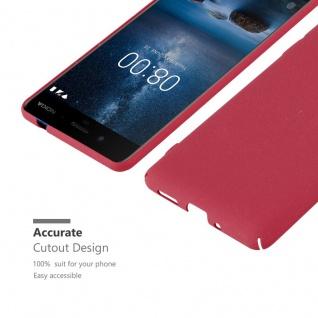 Cadorabo Hülle für Nokia 8 2017 in FROSTY ROT - Hardcase Handyhülle aus Plastik gegen Kratzer und Stöße - Schutzhülle Bumper Ultra Slim Back Case Hard Cover - Vorschau 5