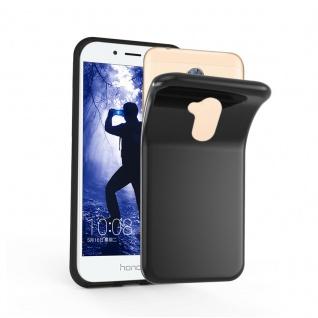 Cadorabo Hülle für Honor 6A in SCHWARZ - Handyhülle aus flexiblem TPU Silikon - Silikonhülle Schutzhülle Ultra Slim Soft Back Cover Case Bumper