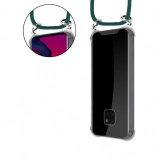 Cadorabo Handy Kette für Huawei MATE 20 PRO in ARMEE GRÜN - Silikon Necklace Umhänge Hülle mit Silber Ringen, Kordel Band Schnur und abnehmbarem Etui - Schutzhülle - Vorschau 5