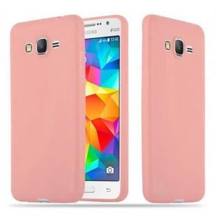 Cadorabo Hülle für Samsung Galaxy GRAND PRIME in CANDY ROSA - Handyhülle aus flexiblem TPU Silikon - Silikonhülle Schutzhülle Ultra Slim Soft Back Cover Case Bumper