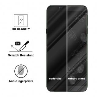 Cadorabo Vollbild Panzer Folie für Xiaomi BLACK SHARK 2 - Schutzfolie in TRANSPARENT mit SCHWARZ - Gehärtetes (Tempered) Display-Schutzglas in 9H Härte mit 3D Touch Kompatibilität - Vorschau 3