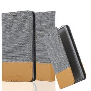 Cadorabo Hülle für Sony Xperia Z in HELL GRAU BRAUN - Handyhülle mit Magnetverschluss, Standfunktion und Kartenfach - Case Cover Schutzhülle Etui Tasche Book Klapp Style