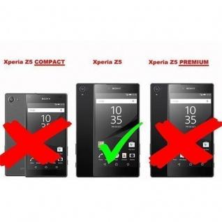 Cadorabo Hülle für Sony Xperia Z5 in KÖNIGS BLAU - Handyhülle im Flip Design aus strukturiertem Kunstleder - Case Cover Schutzhülle Etui Tasche Book Klapp Style - Vorschau 5