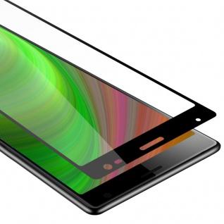 Cadorabo Vollbild Panzer Folie für Sony Xperia 10 - Schutzfolie in TRANSPARENT mit SCHWARZ - Gehärtetes (Tempered) Display-Schutzglas in 9H Härte mit 3D Touch Kompatibilität