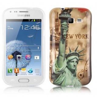 Cadorabo - Hard Cover für Samsung Galaxy TREND LITE - Case Cover Schutzhülle Bumper im Design: NEW YORK - FREIHEITSSTATUE