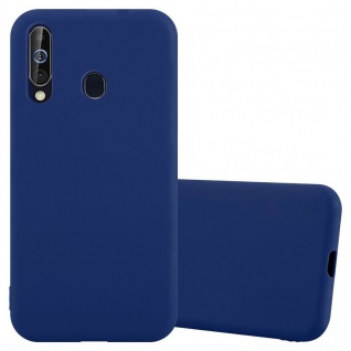 Cadorabo Hülle für Samsung Galaxy A60 / M40 in CANDY DUNKEL BLAU Handyhülle aus flexiblem TPU Silikon Silikonhülle Schutzhülle Ultra Slim Soft Back Cover Case Bumper