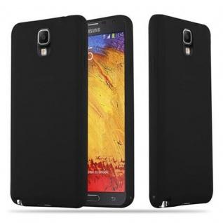Cadorabo Hülle für Samsung Galaxy NOTE 3 in CANDY SCHWARZ - Handyhülle aus flexiblem TPU Silikon - Silikonhülle Schutzhülle Ultra Slim Soft Back Cover Case Bumper