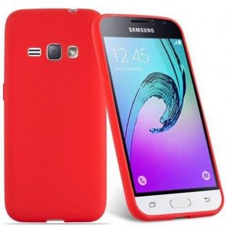 Cadorabo Hülle für Samsung Galaxy J1 2016 in CANDY ROT - Handyhülle aus flexiblem TPU Silikon - Silikonhülle Schutzhülle Ultra Slim Soft Back Cover Case Bumper - Vorschau 2