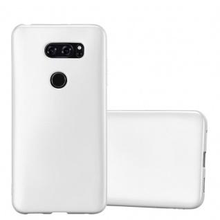 Cadorabo Hülle für LG V30 in METALLIC SILBER - Handyhülle aus flexiblem TPU Silikon - Silikonhülle Schutzhülle Ultra Slim Soft Back Cover Case Bumper