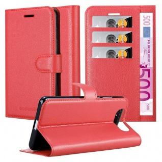 Cadorabo Hülle für Samsung Galaxy A80 / A90 in KARMIN ROT Handyhülle mit Magnetverschluss, Standfunktion und Kartenfach Case Cover Schutzhülle Etui Tasche Book Klapp Style