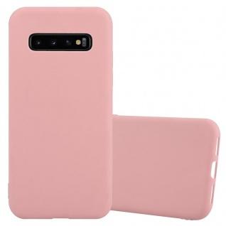 Cadorabo Hülle für Samsung Galaxy S10 PLUS in CANDY ROSA Handyhülle aus flexiblem TPU Silikon Silikonhülle Schutzhülle Ultra Slim Soft Back Cover Case Bumper