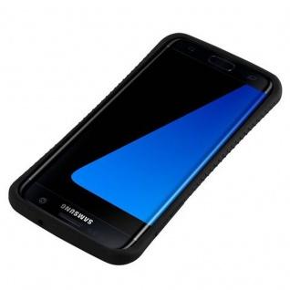 Cadorabo Hülle für Samsung Galaxy S7 EDGE - Hülle in MINERAL SCHWARZ ? Small Waist Handyhülle mit rutschfestem Gummi-Rücken - Hard Case TPU Silikon Schutzhülle - Vorschau 4