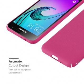 Cadorabo Hülle für Samsung Galaxy J3 / J3 DUOS 2016 in FROSTY PINK - Hardcase Handyhülle aus Plastik gegen Kratzer und Stöße - Schutzhülle Bumper Ultra Slim Back Case Hard Cover - Vorschau 5