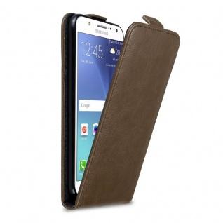 Cadorabo Hülle für Samsung Galaxy J7 2015 in KAFFEE BRAUN Handyhülle im Flip Design mit Magnetverschluss Case Cover Schutzhülle Etui Tasche Book Klapp Style