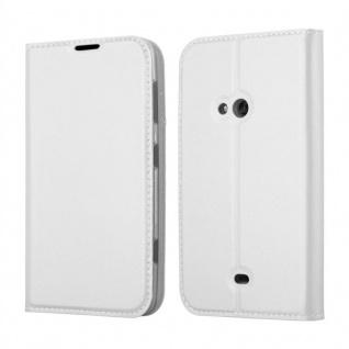Cadorabo Hülle für Nokia Lumia 625 in CLASSY SILBER - Handyhülle mit Magnetverschluss, Standfunktion und Kartenfach - Case Cover Schutzhülle Etui Tasche Book Klapp Style