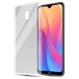 Cadorabo Hülle kompatibel mit Xiaomi Redmi 8A in VOLL TRANSPARENT Handyhülle aus flexiblem TPU Silikon Silikonhülle Schutzhülle Ultra Slim Soft Back Cover Case Bumper