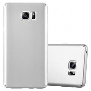 Cadorabo Hülle für Samsung Galaxy NOTE 5 - Hülle in METALL SILBER ? Hardcase Handyhülle im Matt Metal Design - Schutzhülle Bumper Back Case Cover