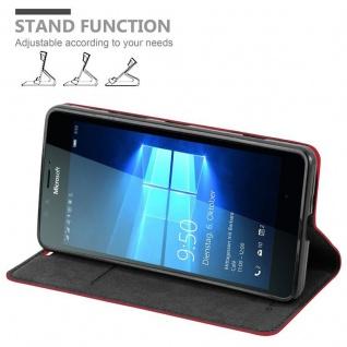 Cadorabo Hülle für Nokia Lumia 950 in APFEL ROT Handyhülle mit Magnetverschluss, Standfunktion und Kartenfach Case Cover Schutzhülle Etui Tasche Book Klapp Style - Vorschau 4