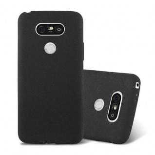Cadorabo Hülle für LG G5 in FROST SCHWARZ - Handyhülle aus flexiblem TPU Silikon - Silikonhülle Schutzhülle Ultra Slim Soft Back Cover Case Bumper