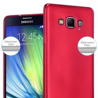 Cadorabo Hülle für Samsung Galaxy A7 2015 in METALLIC ROT - Handyhülle aus flexiblem TPU Silikon - Silikonhülle Schutzhülle Ultra Slim Soft Back Cover Case Bumper - Vorschau 4